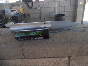 smoke grenade from PaintBall sports and vented payload segment