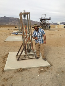 Richard Garcia stands next to Larry's Beta (for scale)