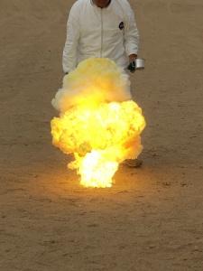 micrograin combustion demonstration at MTA