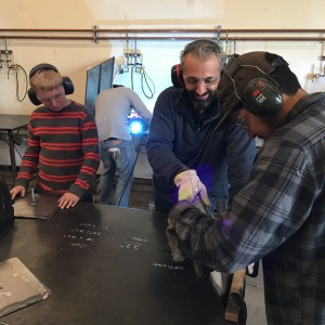 learning to weld at MMW in Glendale